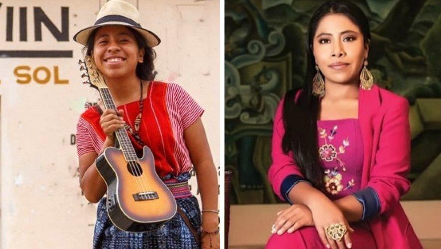 La cantante kaqchikel Sara Curruchich fue invitada por Yalitza Aparicio a su programa en Youtube