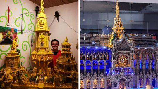 Las impresionantes esculturas gigantes de plastilina del quetzalteco Daniel Rivera