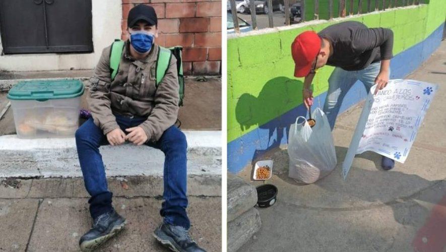 Luis Ángel Avedaño, de _Mandaditos Express_, en Zona 21 Ciudad de Guatemala