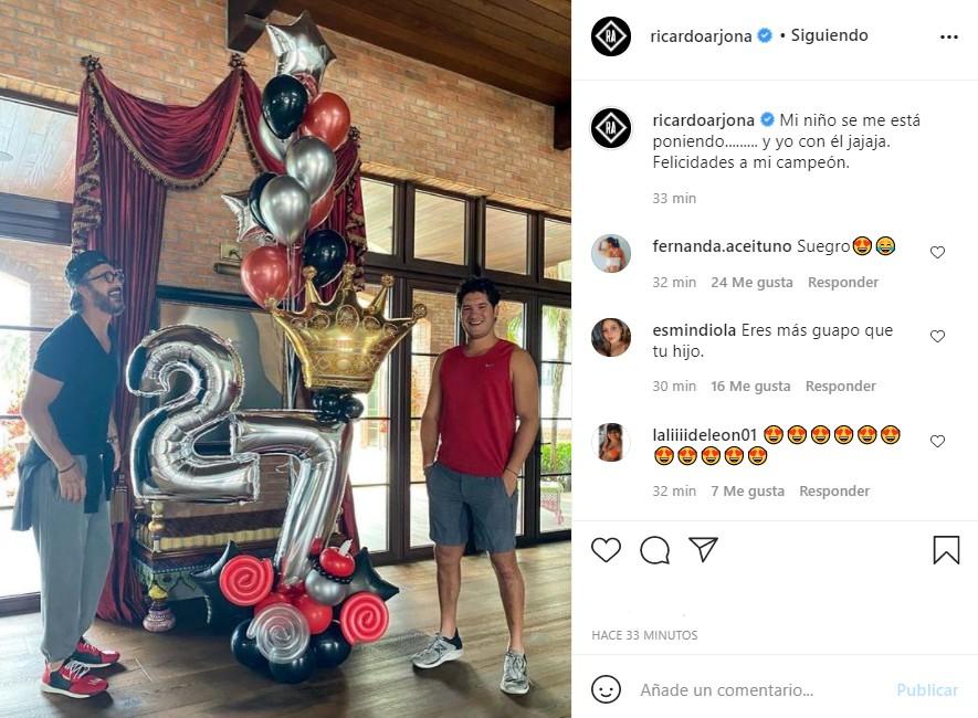 Ricardo arjona felicitación hijo cumpleaños 27