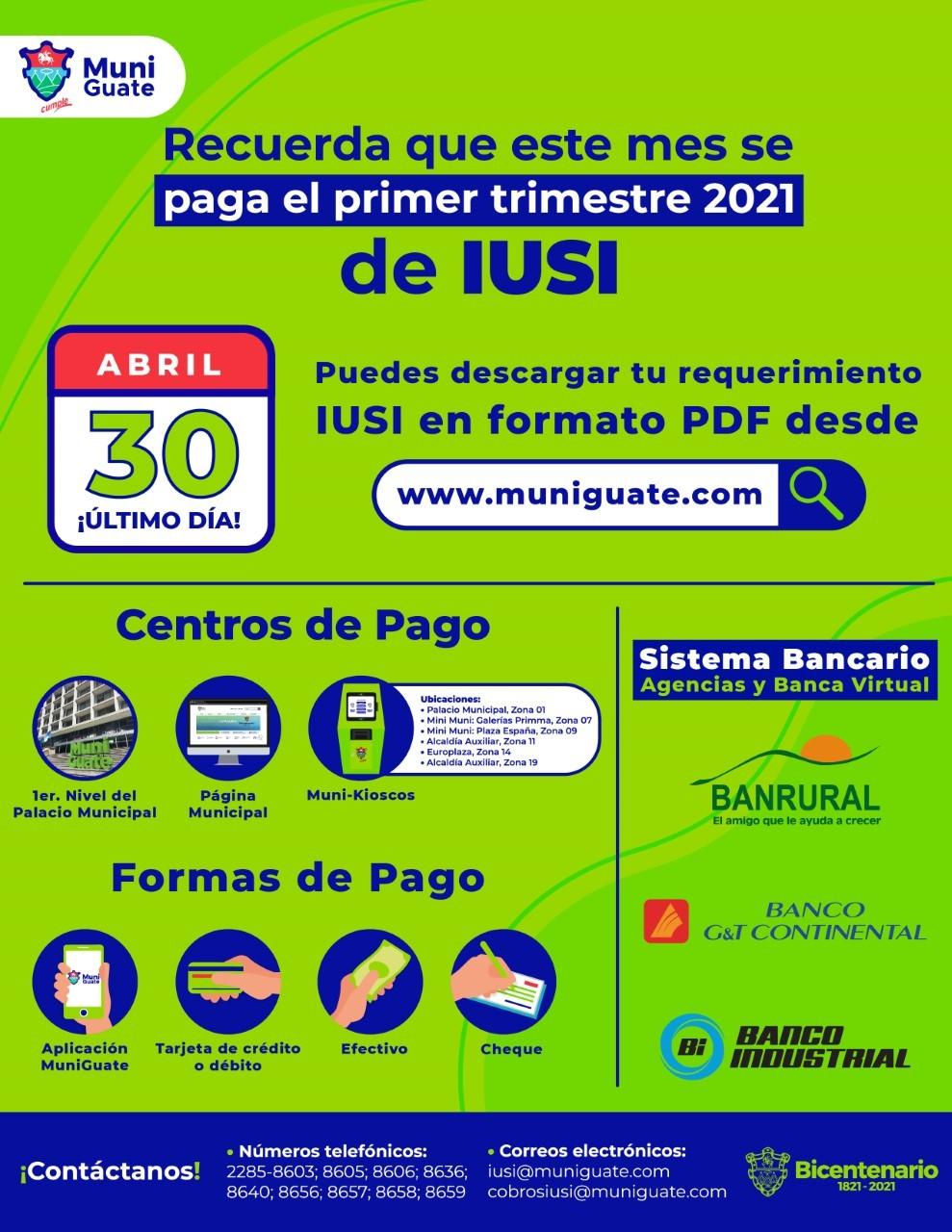 pago del iusi en guatemala donde pagar formas de pago como calcularlo