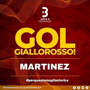 Ana Lucía Martínez anotó gol en la victoria 3-0 contra Cesena, Serie B Femenina 2021.