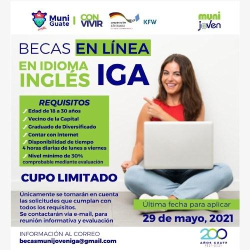 Becas en línea en idioma inglés del IGA, mayo 2021