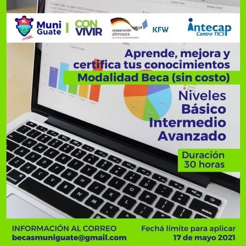 Becas gratuitas y en línea de Excel para vecinos de la Ciudad de Guatemala