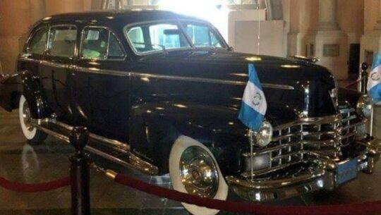 Exhibición gratuita del vehículo de Jorge Ubico, Ciudad de Guatemala Mayo 2021