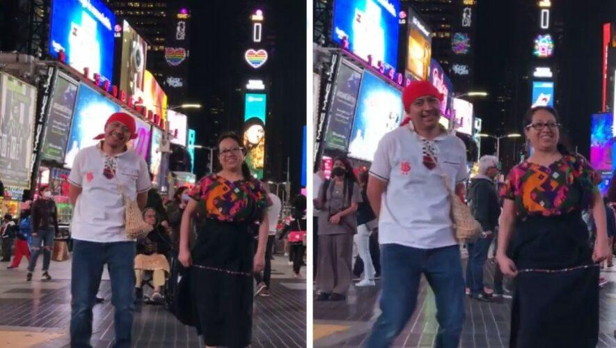 Guatemaltecos bailaron son maya Rey K'iche' en el Time Square de Nueva York