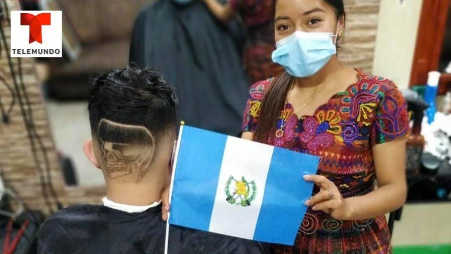 La guatemalteca Ericka Pérez _Lady Barber_ fue destacada en reportaje por Telemundo