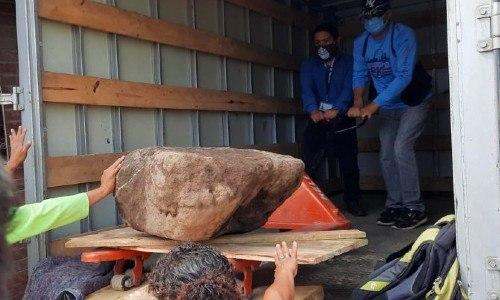 piedra maya encontrada en hogar de la Zona 13 capitalina