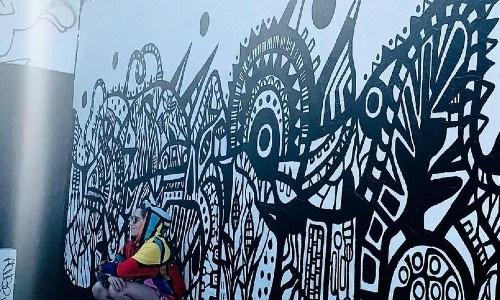 Milah artista guatemalteca invitada mural museo del graffiti miami estados unidos guatemala