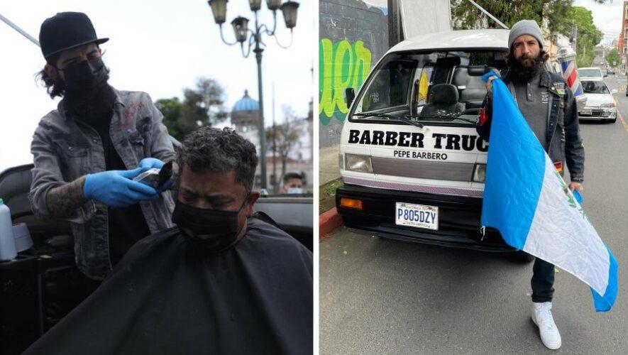 Pepe Barbero el guatemalteco que con barbería móvil regala cortes de cabello a personas de escasos recursos