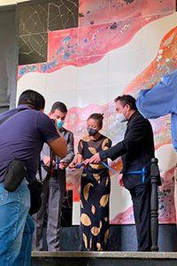Se inauguraron nuevos murales en la Escuela Nacional de Artes Plásticas