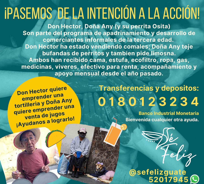 Únete a ayudar a abuelitos emprendedores que necesitan el apoyo de los guatemaltecos