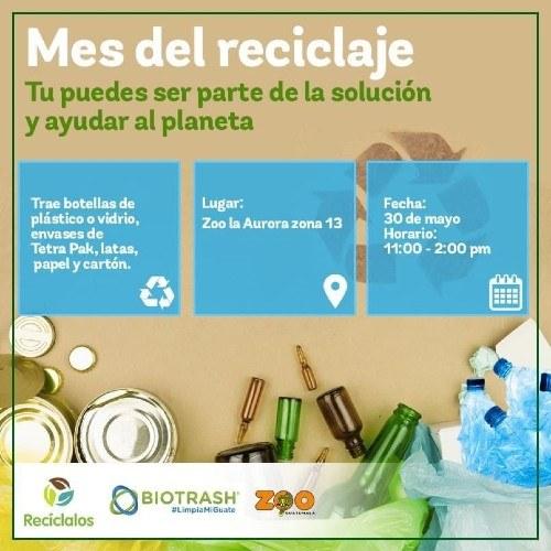 Zoológico La Aurora estará recibiendo materiales reciclables