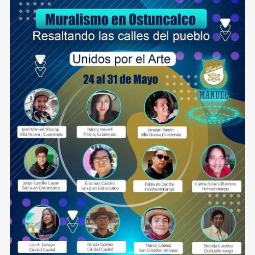artistas guatemaltecos mural hector gaitan san juan ostuncalco quetzaltenango