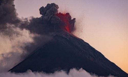 cindy lorenzo volcan en erupcion de Guatemala