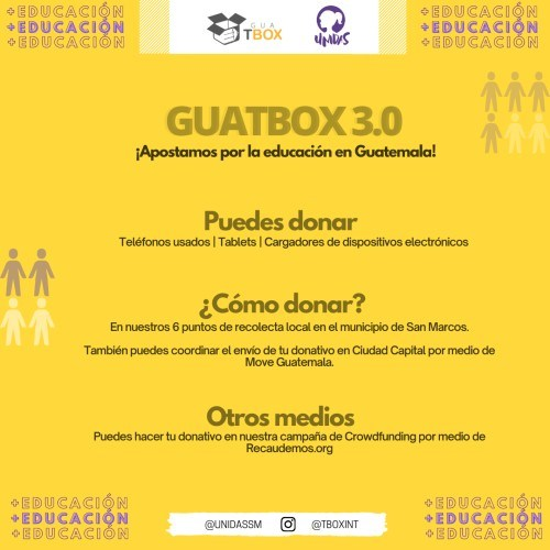 donativos celulares tablets guatbox guatemala niños san marcos