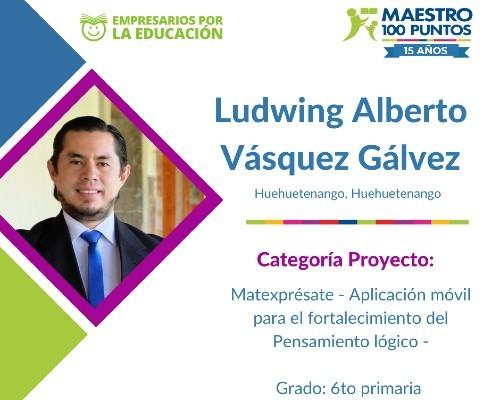 guatemalteco Ludwing Vásquez maestro 100 puntos