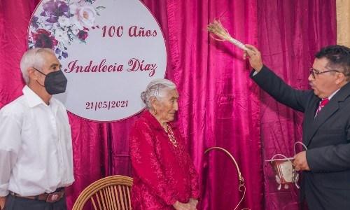 huehueteca cumplió 100 años de edad, chiantla, mayo 2021
