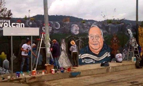mural en honor al guatemalteco hector gaitán