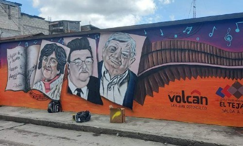 mural personajes de ostuncalco, guatemaltecos, quetzaltenango