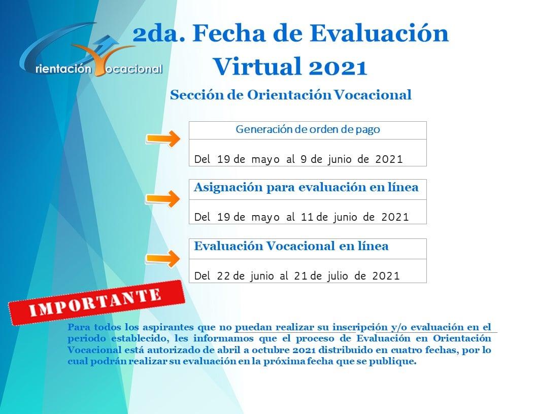 segunda fecha de evaluación virtual 2021 Orientación Vocacional para los guatemaltecos