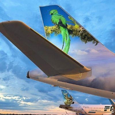 Aerolínea Frontier hará un homenaje al Quetzal, Ave Nacional, en uno de sus aviones-