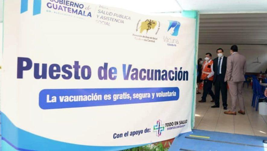 Cuáles son los centros de vacunación habilitados en Guatemala