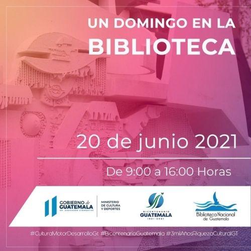 Domingo en la Biblioteca nacional de Guatemala