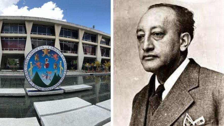 El recuerdo de Miguel Ángel Asturias que permanece en la Universidad de San Carlos