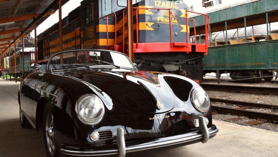 Exhibición de carros antiguos en Museo del Ferrocarril, Ciudad de Guatemala | Junio 2021