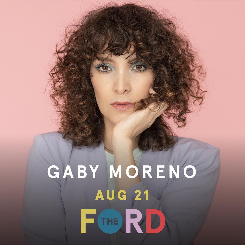 Gaby Moreno concierto en vivo the ford, Estados Unidos, en agosto 2021