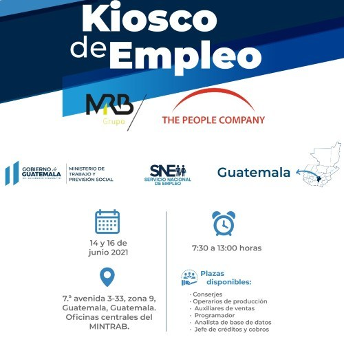 Kiosco del empleo del Mintrab para guatemaltecos