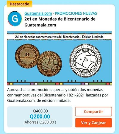 Las monedas conmemorativas de Guatemala.com que celebran el Bicentenario del país--