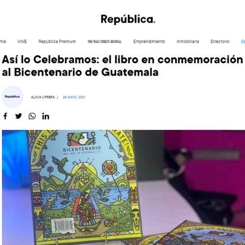 Libro Guatemala.com publicación Republica