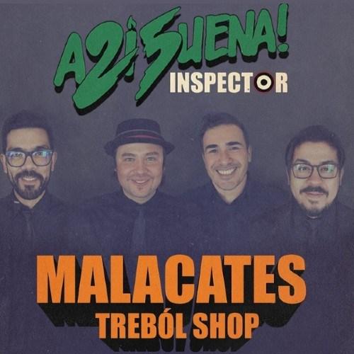 Malacates Trébol Shop cantó junto a la banda mexicana El Inspector