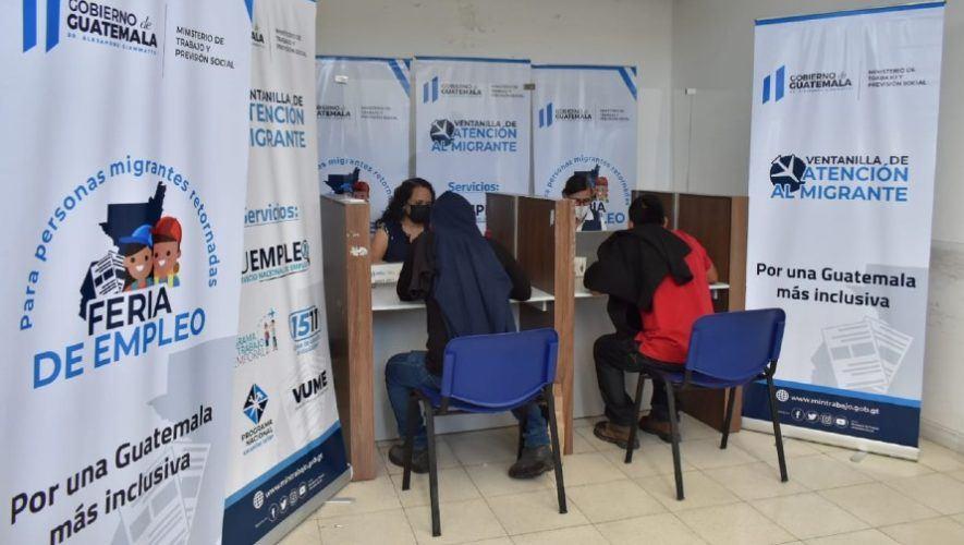 Primera feria del empleo para migrantes retornados en Guatemala | Junio 2021