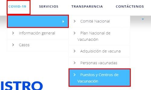 Puestos y Centros de Vacunación registro
