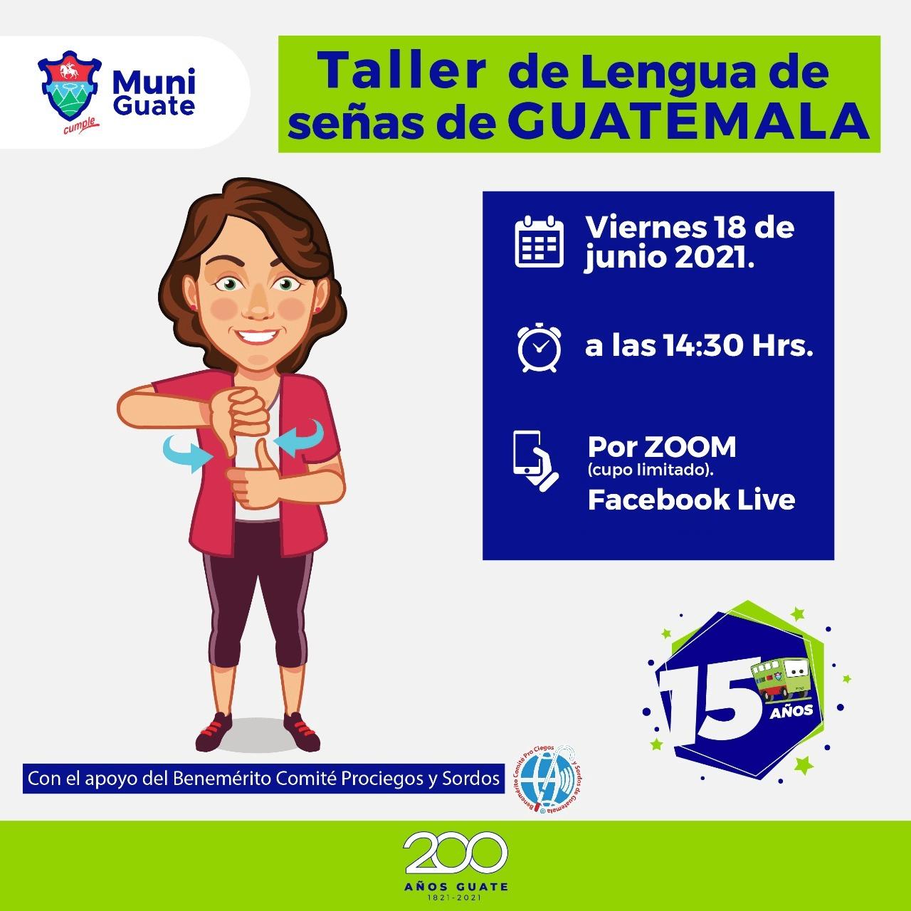 Taller gratis de lengua de señas para guatemaltecos