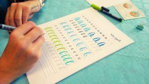 Taller virtual y gratuito de lettering enfocado a trazos básicos y mayúsculas | Junio 2021