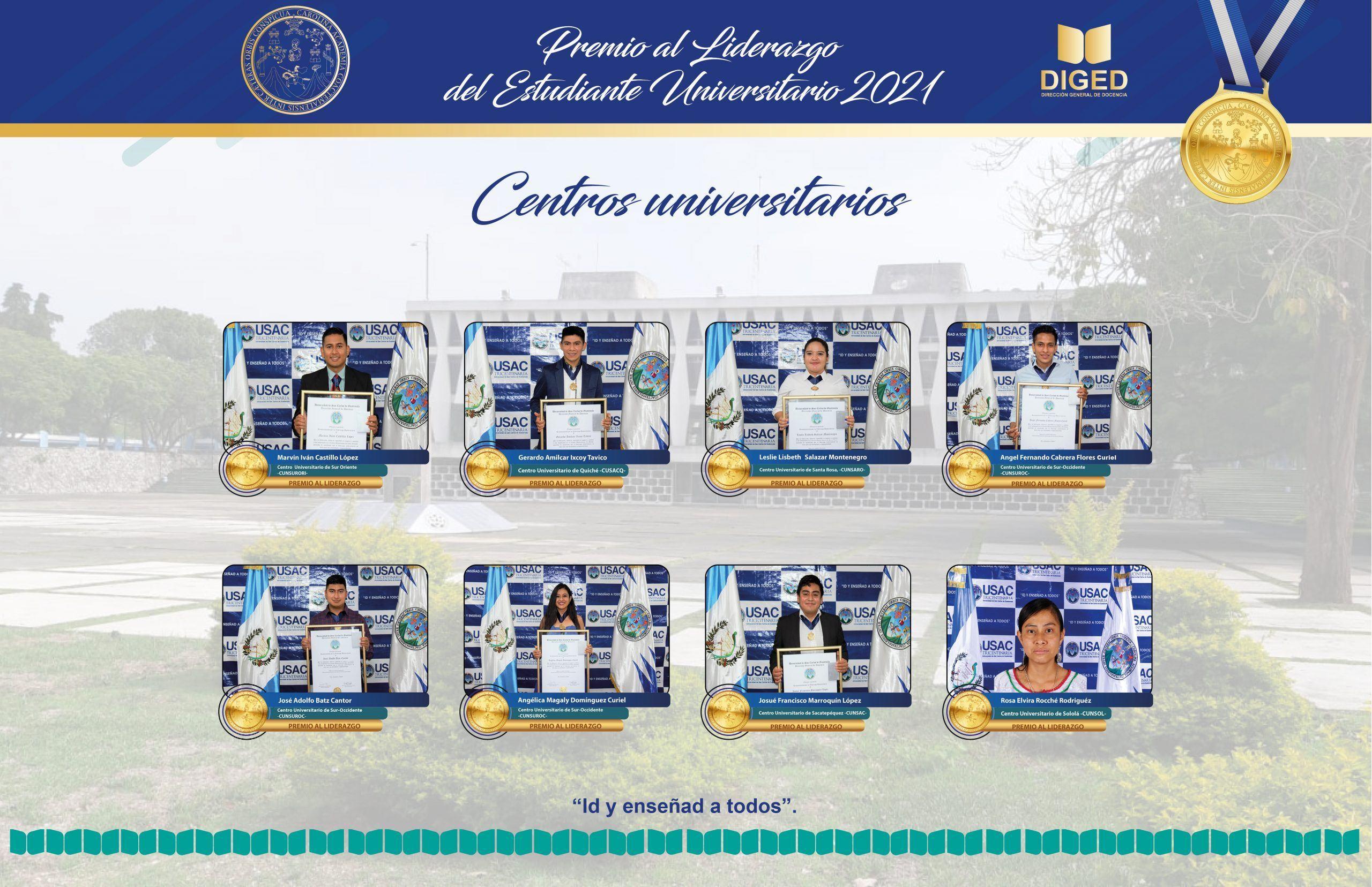 premio excelencia academica usac 2021 centros regionales universitarios