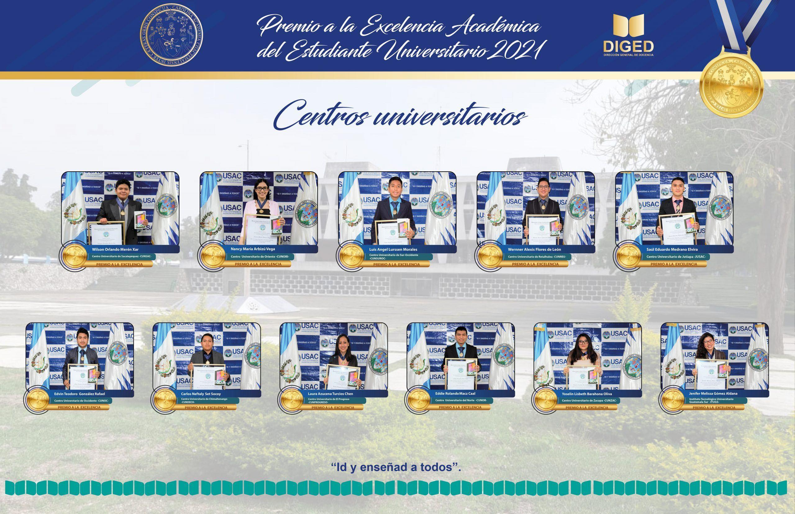 premio excelencia academica usac 2021 centros universitarios