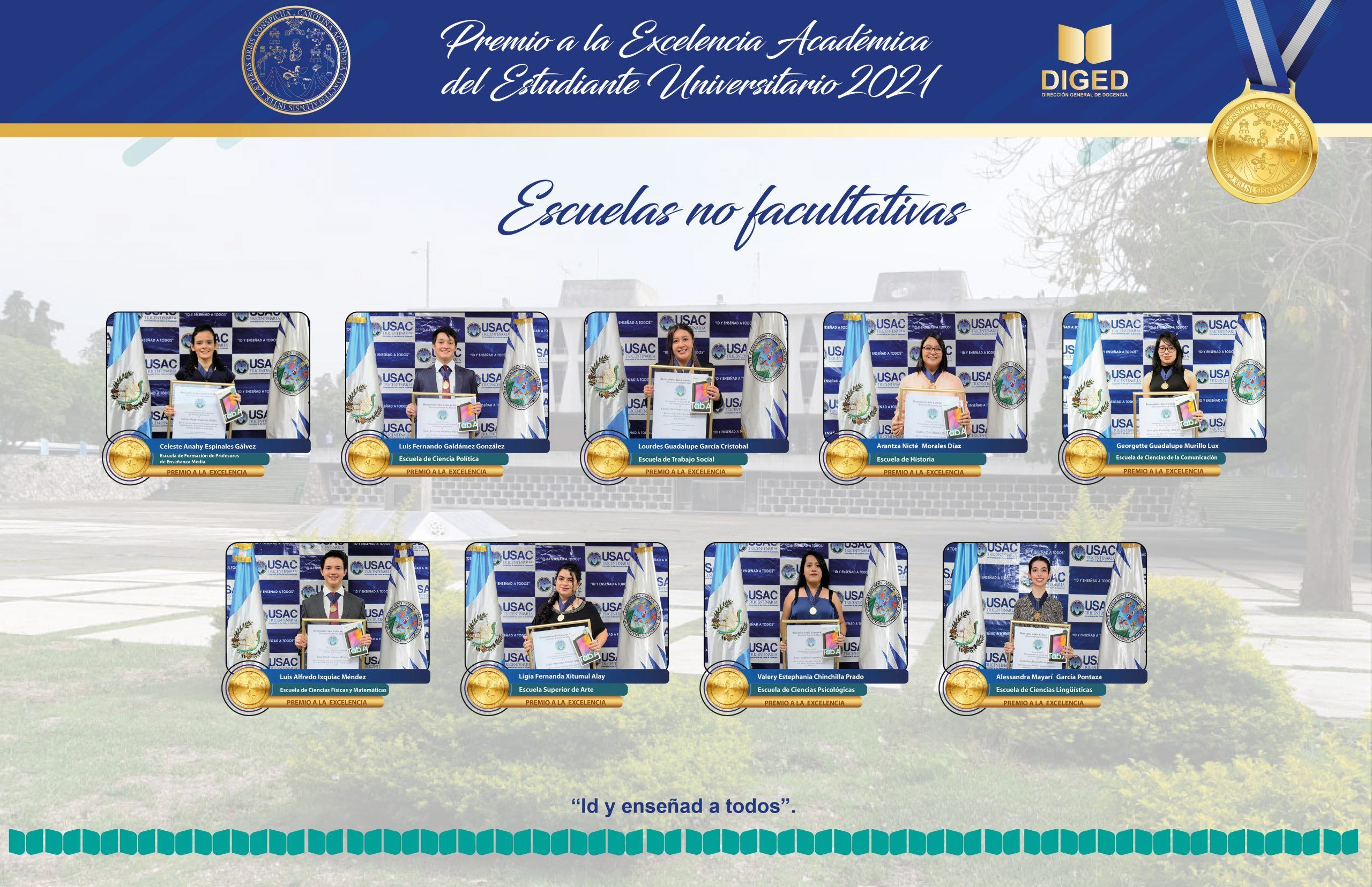 premio excelencia academica usac 2021 escuelas