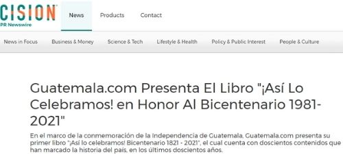punlicacion sobre Asi lo celebramos Guatemala.com