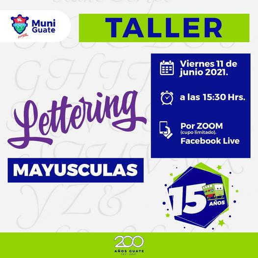 taller gratuito de lettering en linea para guatemaltecos junio 2021