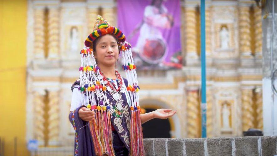 Ana Martina Chay, princesa maya Umial Tinimit Re Zunil, hizo danza folklórica en su municipio