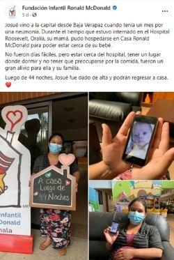 Casa Ronal McDonald Pases de Dia Guatemala