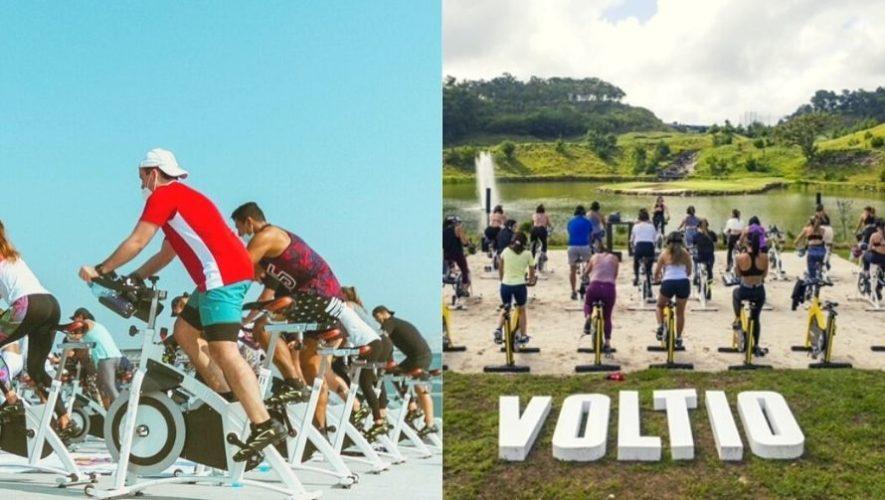 Clase de cycling de Voltio Studio, al aire libre, en El Pulté Golf   Julio 2021