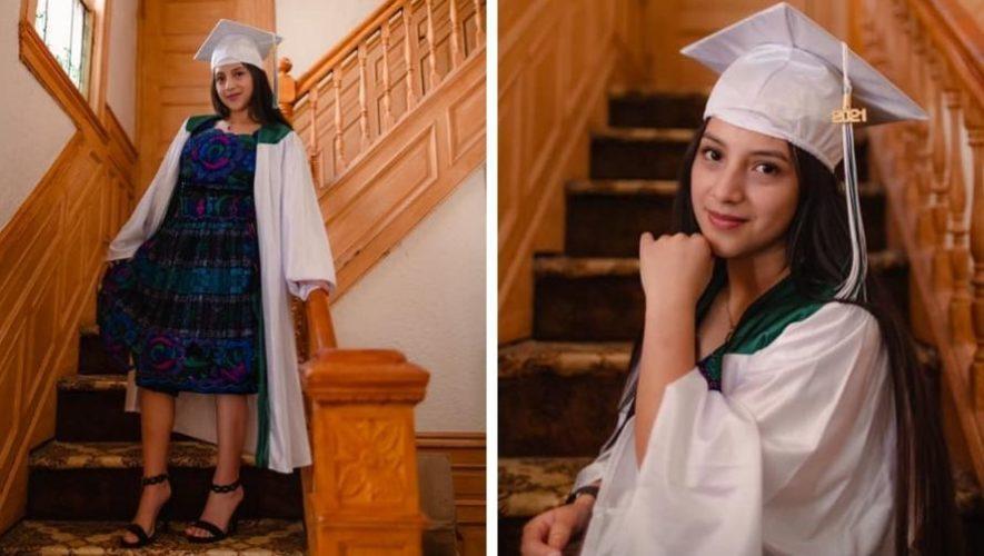 Yamila Tiu, joven de Totonicapán que emprendió negocio y se graduó en Nueva York