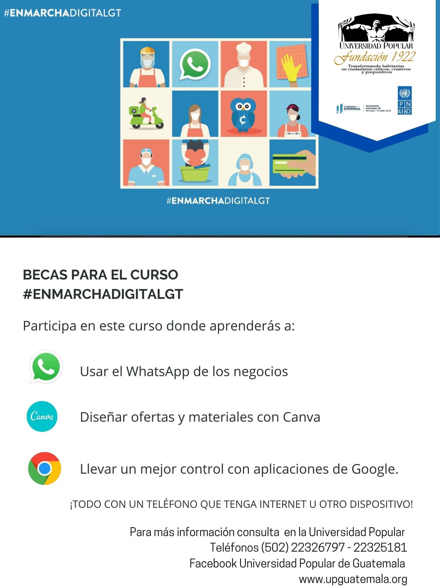 requisitos becas para guatemaltecos universidad popular enmarcha gt