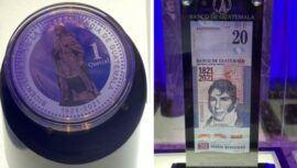 Presentaron oficialmente el billete y moneda conmemorativa por el Bicentenario de Guatemala